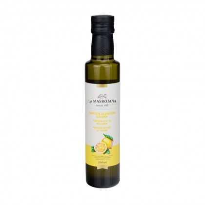 Aromatisiertes Arbequina Olivenöl mit Zitrone 250ml