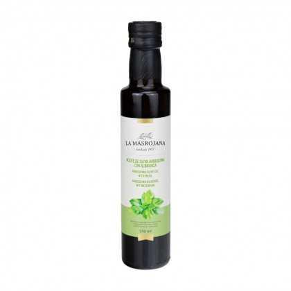 Aceite de oliva Arbequina con albahaca 250ml