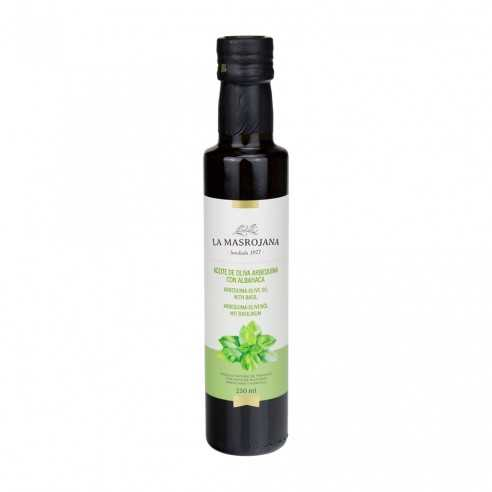 Aromatisiertes Arbequina Olivenöl mit Basilikum 250ml