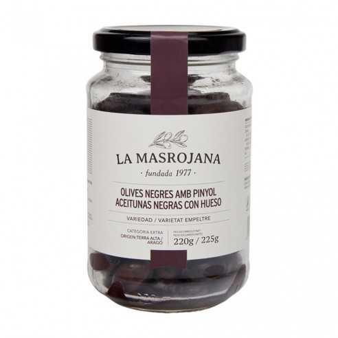 Schwarze Oliven aus Aragonien La Masrojana 220g