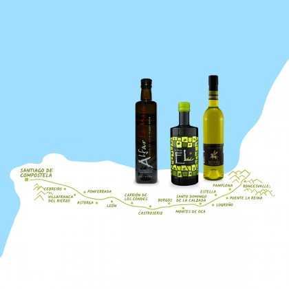 Olive oil set Camino de Santiago