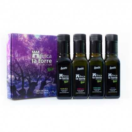 Organic Olive Oil Finca la Torre Selección monovarietal collection 4x100 ml