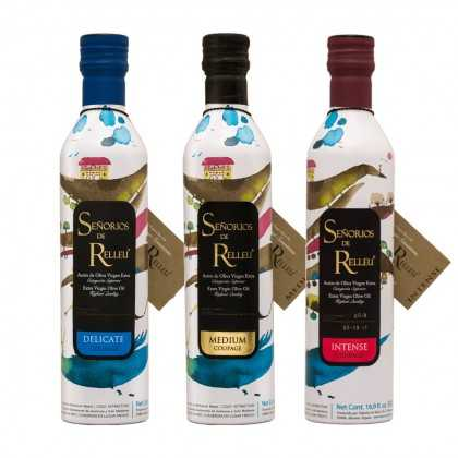 Olive Oil Set Señoríos de Relleu delicate - medium - intense 500ml