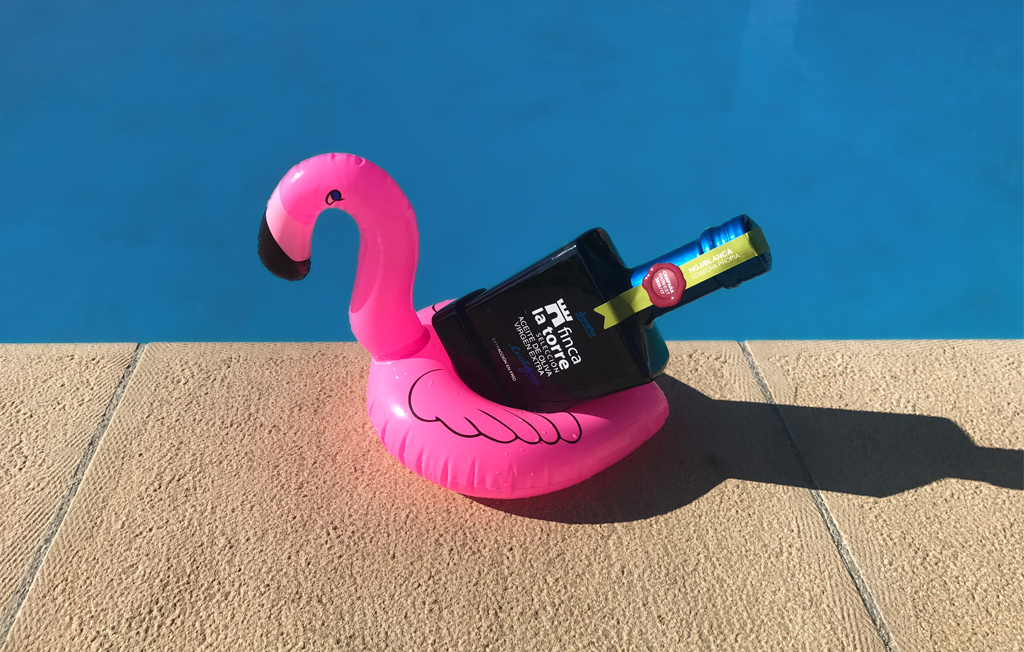 Pool Flamingo and Olive Oil