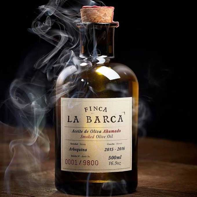 Finca La Barca geräuchertes Olivenöl