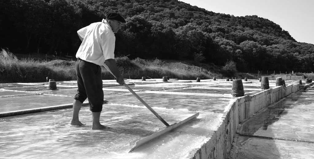Salz Abbau in den Bergen von Navarra